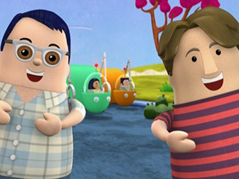 The round nesting-doll style Johns from Higglytown Heroes.