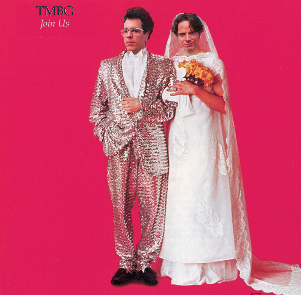 The cover of Sparks: Angst In My Pants with John F as the groom, John L as the bride.