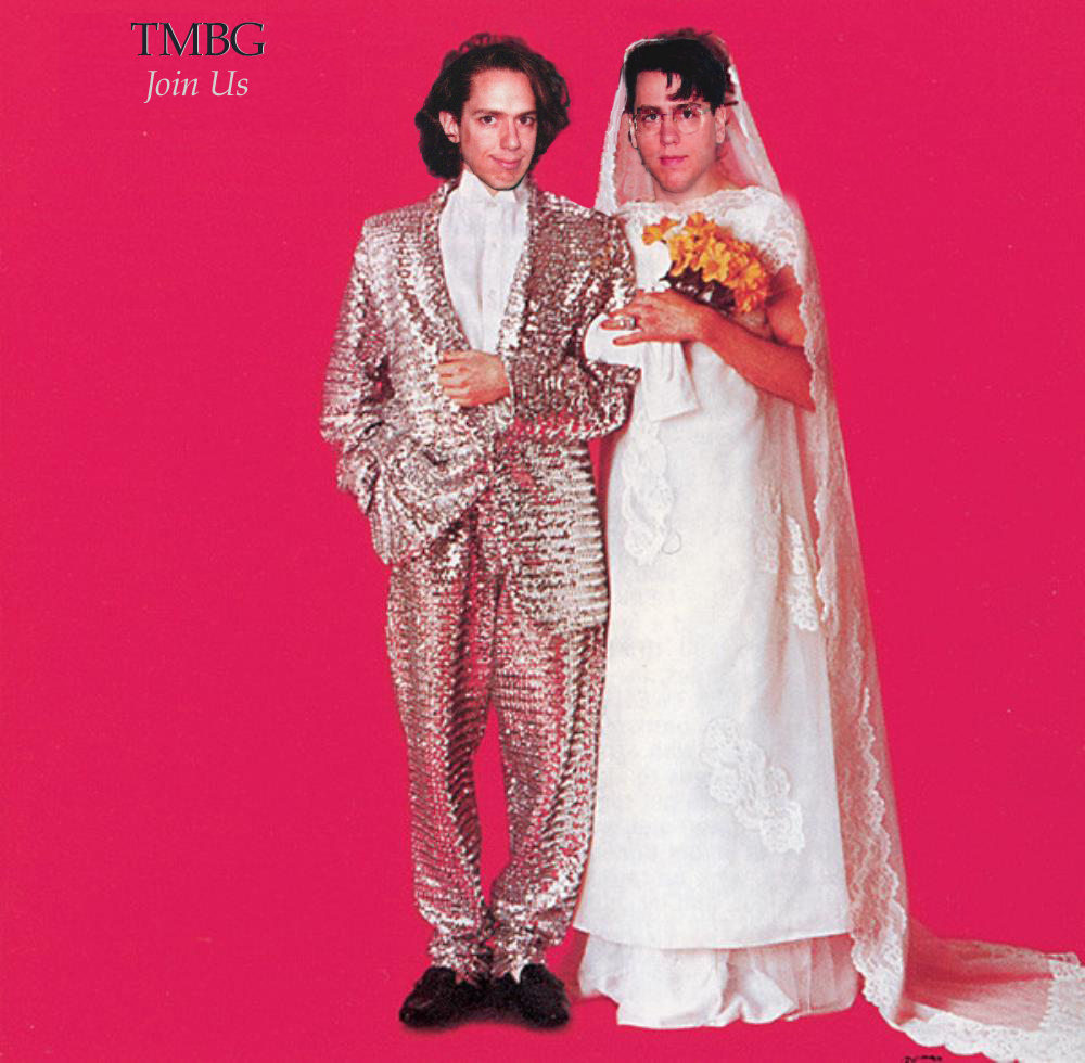 The cover of Sparks: Angst In My Pants with John L as the groom, John F as the bride.