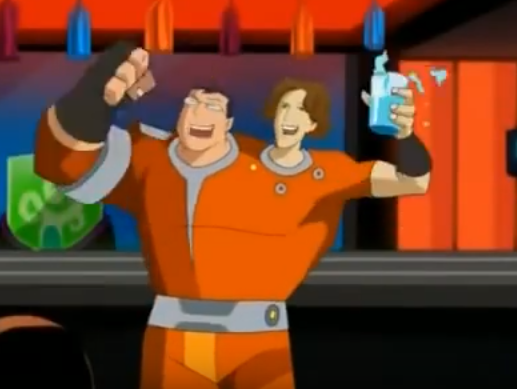 A two-headed background character from TMNT. One head appears to be JF, the other JL.