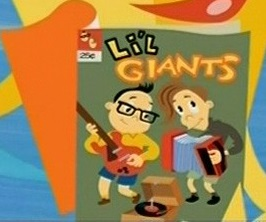 The Johns drawn as young boys on the cover of a comic a monster reads in the Triops music video.